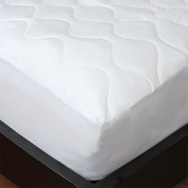 Soft Cotton Feel Quilted Mattress Pad