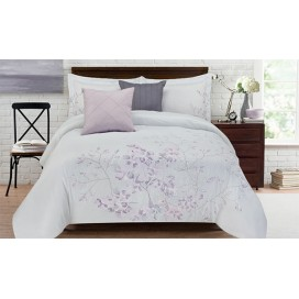 Adrie Embroidered 5pc Comforter Set