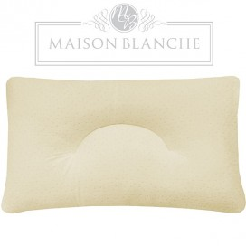Memory Foam Chopped Neck Pillow With Velour Cover