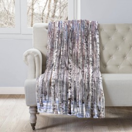 COZY COLLECTION - LANDSCAPE MICROMINK THROW - Forest Trees