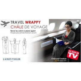 Travel wrappy blanket-throw
