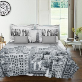 New York 6pc Microfiber Comforter Set