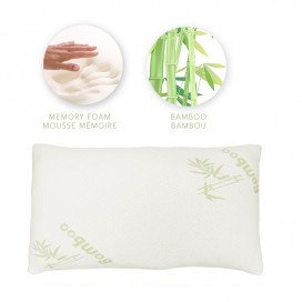 Bamboo Cover Chopped Memory Foam Pillow