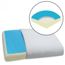 Memory Foam With Cooling Blue Gel Pillow