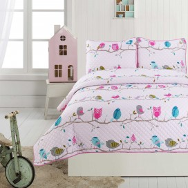 Little Adrien - Maisy Collection 3pc Microfiber Quilt Set