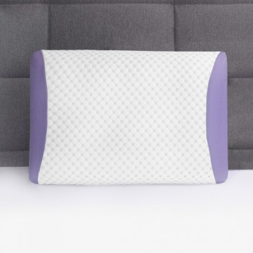 Maison Blanche - Lavender-infused Memory Foam Pillow,Lavender,15.75x25.5+4""