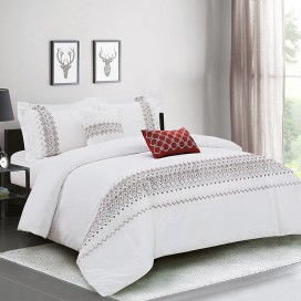 Sv, Aida 5pcs Embroidery Comforter Set