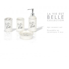 Lt - La Vie Est Belle Bathroom 4pcs Set Ceramic