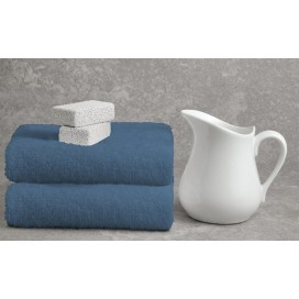 "Wh - Bamboo Deluxe Bath Towels Set Of 2 [35x64""] Denim"