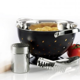 """Alc - 3pcs Set Of Colander Stainless Steel [10.2""""]"""