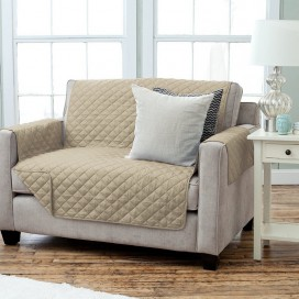 Lt- Diamond Quilt Loveseat Slip Cover 75x88""
