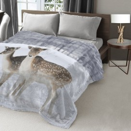 Lt - Wildlife Collection Micromink Blanket Deer