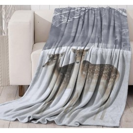 Lt - Two Deer Design Wildlife Throw