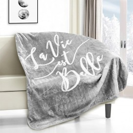 La Vie Est Belle Novelty Micro Mink Throw