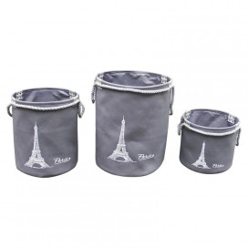 Lt, Paris Storage Basket White-grey