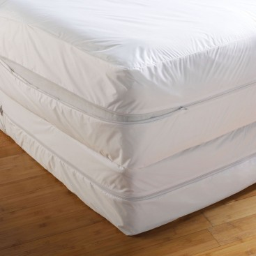 Mattress Encasement With Bed-bug Protection., fully Encases Mattress With Anti-bug Zipper