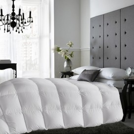 T233 Cotton White Duck Down + Feather And Microgel Duvet