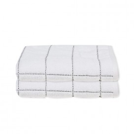Lt Midnight Blue Collection, Check Towels [bath Set Of 2]