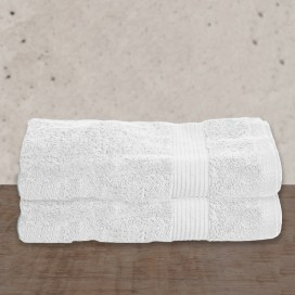 "Wh - Bamboo Deluxe Bath Towels Set Of 2 [29x56""]"