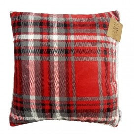 Lt - Rustic Cabin Lucas Plaid Printed Super Soft 18x18""