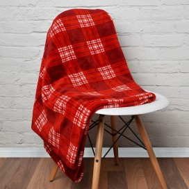 Lt - Rustic Cabin Super Soft Plaid Throw Or Blank