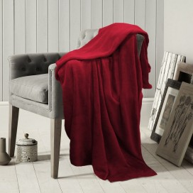 Lt - Microfleece Solid Color Throw Or Blanket