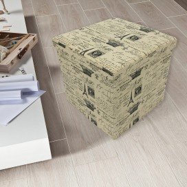 Lt - Paris Storage Ottoman 2 Sizes To Choose From