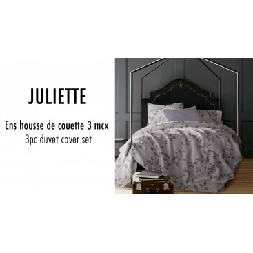 Lt - Juliette Vines 3pc Printed Mf Duvet Cover Set Lavender King
