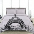 Al - Eiffel Tower Printed Duvet Cover Set