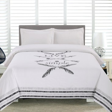 Al - Live Simple Printed Duvet Cover Set