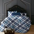 Lt - Romeo Plaid 3pc Printed Mf Duvet Cover Set