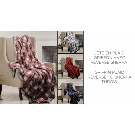 LT - Griffin Plaid Reverse To Sherpa Throw