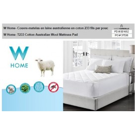 W Home- T233 Cotton Australian Wool Mattress Pad
