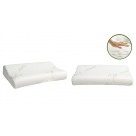 MB, Bamboo Memory Foam Pillow White 19x12x4""