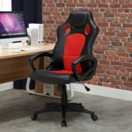 Atelier Du Nord - Pu Racer Office Chair Black-red
