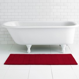 Memory Foam Bathroom Runner With Antislip Backing 21X48