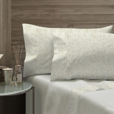 Comfort Fleece Sheet Set Solid Colors With Printed Microfiber Hem And Pillow Cases