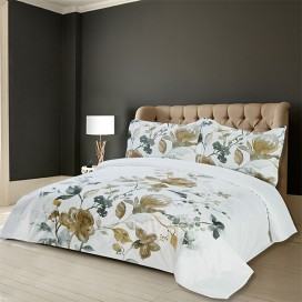 Amal Printed Cotton Duvet Cover 3pcs Set