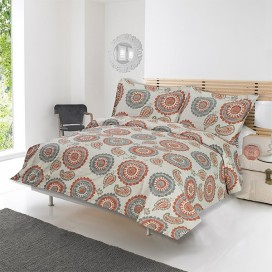 Adnan Printed Cotton Duvet Cover 3pcs Set