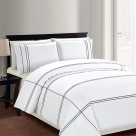 Cedano White 3pcs Duvet Cover Set