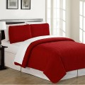Solid Colours Microfiber Quilt 2pc Sets