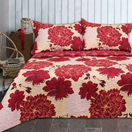 Heather Microfiber Quilt Set