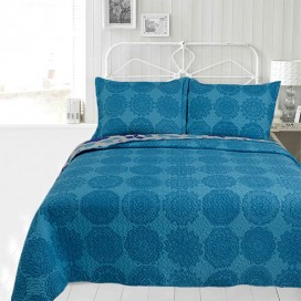 Alexiss Printed Microfiber Quilt Set
