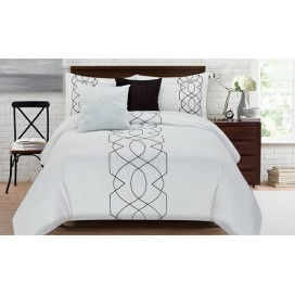 Vogel Embroidered 5pc Comforter Set