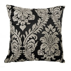 Damask Jacquard Printed Square Cushion 18x18 In