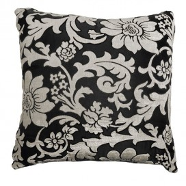 Floral Jacquard Printed Square Cushion 18x18 In