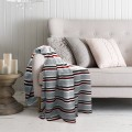 Microfleece Printed Stripes Blanket 60 X 80 In