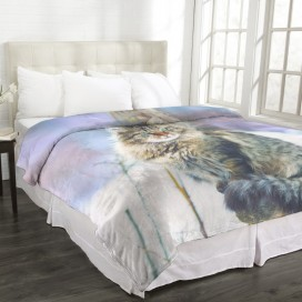 Cozy Collection - Animal MicroMink Blanket LYNX