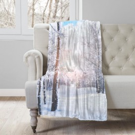 COZY COLLECTION - LANDSCAPE MICROMINK THROW - Winter Sunrise