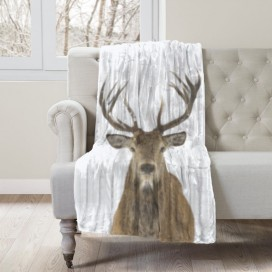COZY COLLECTION - WILDLIFE MICROMINK THROW - Deer